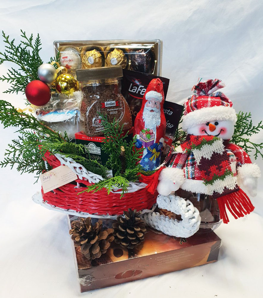 Christmas Basket - The Snake of the Happy Snowman