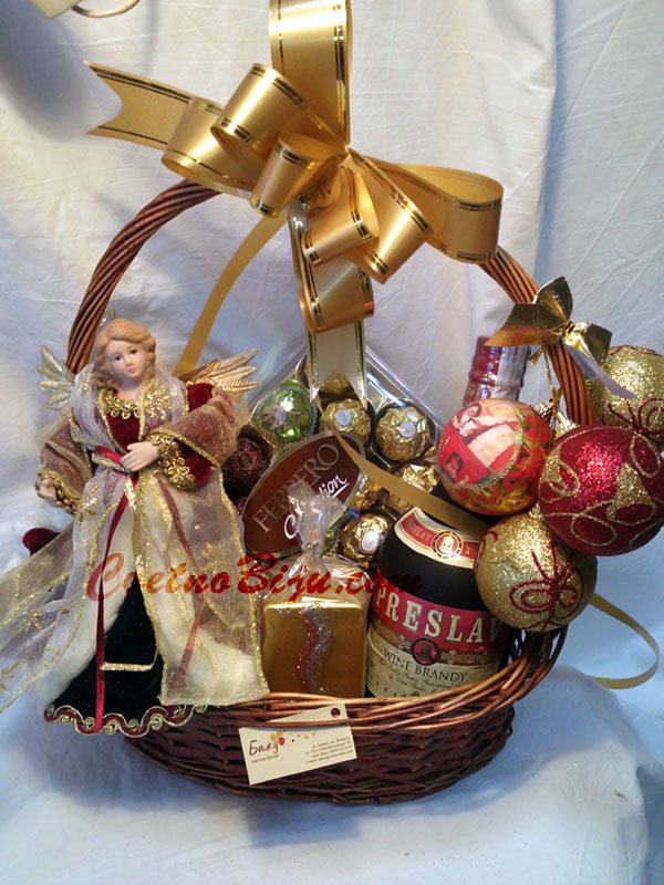 Christmas Basket with Angel