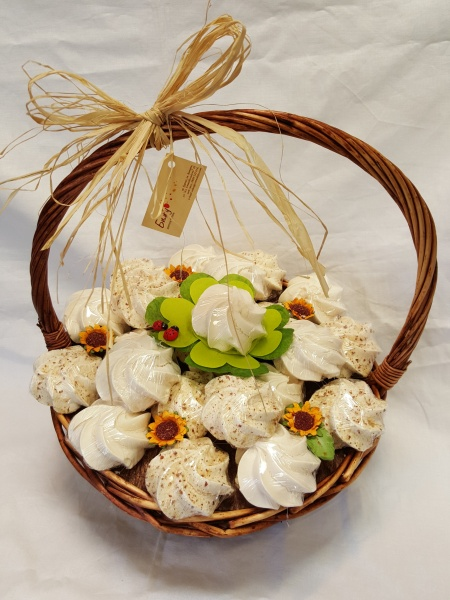 Basket of meringues