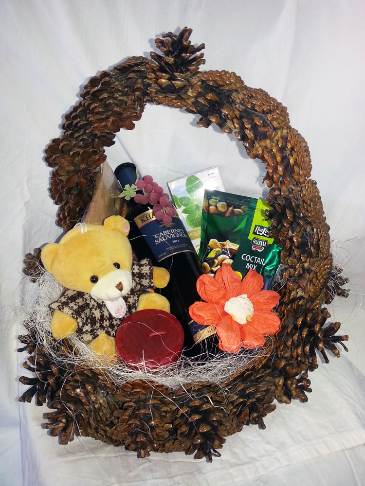 Gift Basket with Teddy
