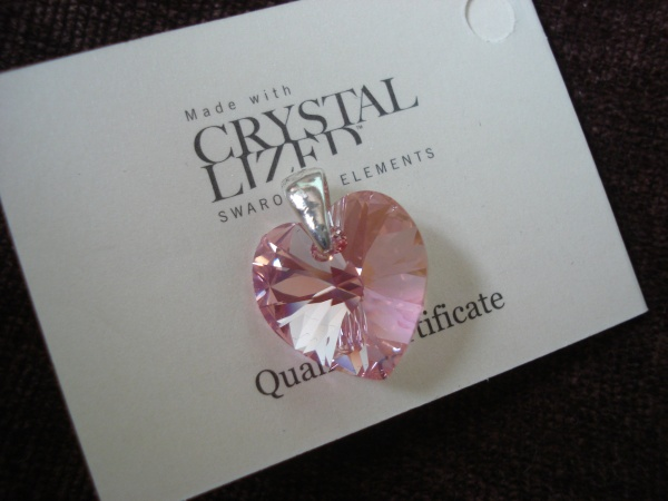 Swarovski Crystal - Light Rose Heart - 18 mm