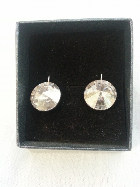 Swarovski Earrings - Rhodium coating
