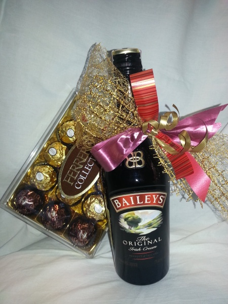 Baileys liqueur and chocolates Ferrero Rosher