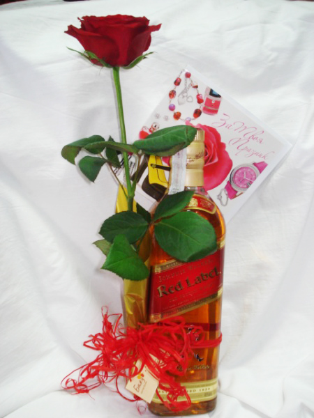 Whisky, Chocolates and Red Rose