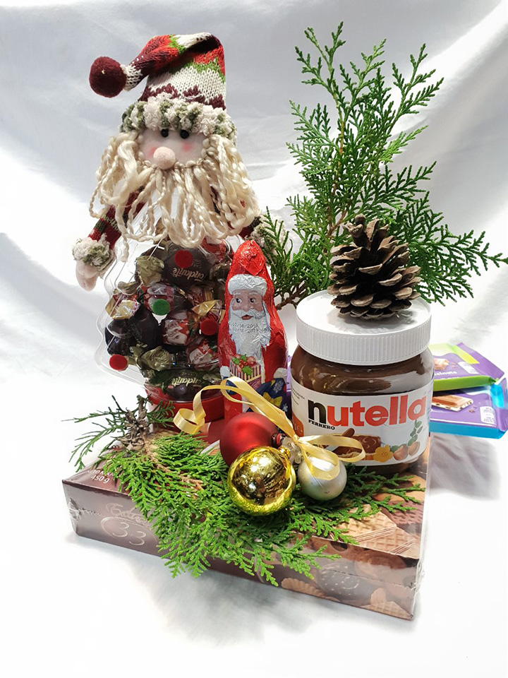 Christmas jar Santa with surprises