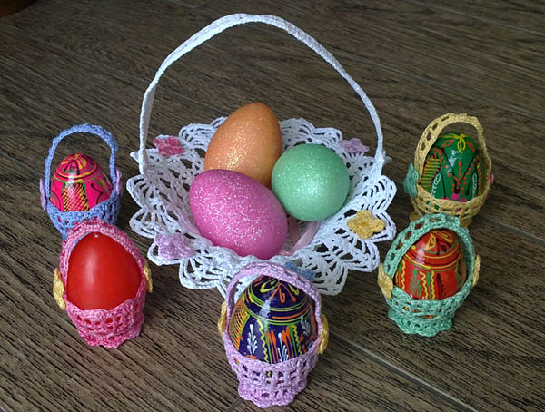 Crochet Baskets for Easter eggs