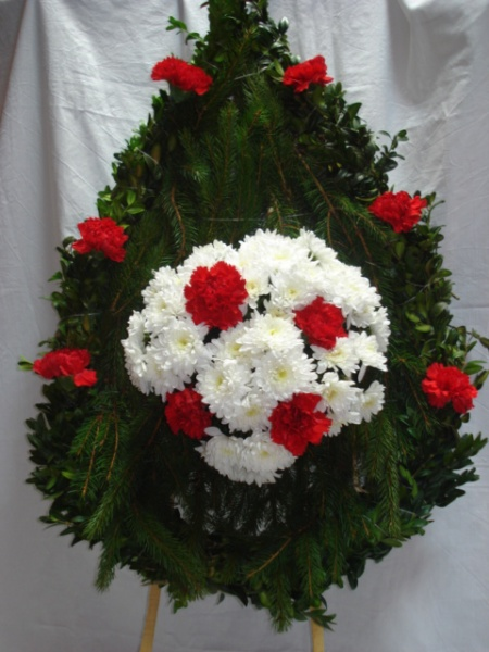Wreath to express condolences and tribute