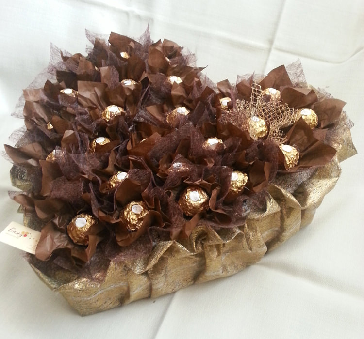 Gold Heart Chocolate Arrangement